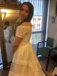 B3 Bohemisk klänning med spetsdetaljer