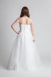 Brudklänning tub med spetstopp, tyllkjol och snörning i ryggen