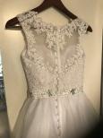 Brudklänning REA vit spets med tyllkjol art W12