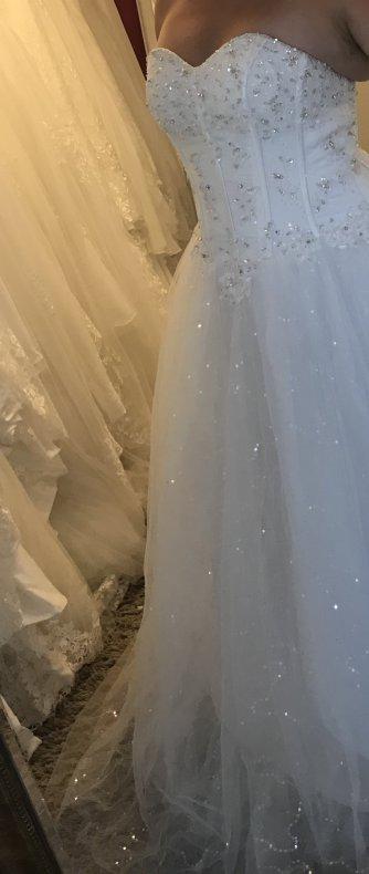 f96bdd8c1101 P12 Prinsessklänning med korsett och glitter