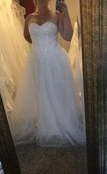 P12 Prinsessklänning med korsett och glitter