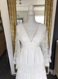 A13 Bohemisk spetsklänning med härliga ärmar