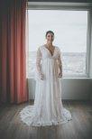 Bohemisk spetsklänning med härliga ärmar