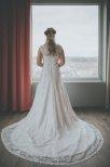 Brudklänning i spets med fantastisk passform A linje