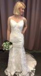 M5 Brudklänning sjöjungfru med fantastiskt släp