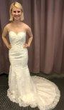 M8 Brudklänning sjöjungfru med fantastisk spets
