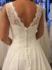 250 Brudklänning med mjuk spetstopp och chiffongkjol