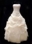 112 Prinsessklänning i organza med blommor och pärlor
